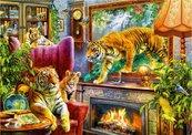 Puzzle 1000 Rodzina tygrysów