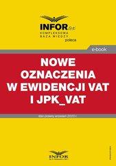 Nowe oznaczenia w ewidencji VAT i JPK_VAT
