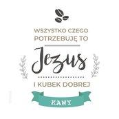Podstawka korkowa - Jezus i kubek kawy