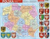 Puzzle ramkowe - Polska administracyjna