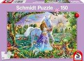 Puzzle 150 Księżniczka jednorożec i zamek G3