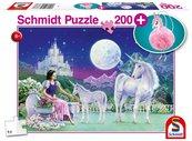 Puzzle 200 Jednorożec + pluszowy brelok G3