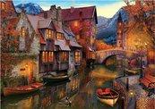 Puzzle 2000 Kanał pełen łódek