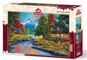 Puzzle 2000 Dwie strony lasu