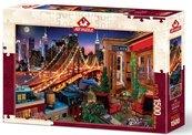 Puzzle 1500 Nowy York, Widok na taras