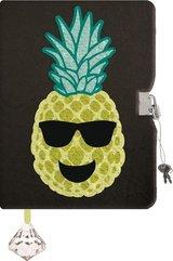 Pamiętnik z kłódką A5/96K Cekiny Ananas