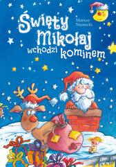 Święty Mikołaj wchodzi kominem