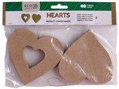 Kształty z papier mache Hearts 2szt HAPPY COLOR
