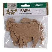 Zestaw kształtów tekturowych Farm 5szt HAPPY COLOR
