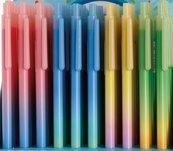 Długopis pstrykany Raibow 0,5mm niebieski 4szt mix