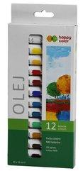 Farba olejna 12ml 12 kolorów HAPPY COLOR
