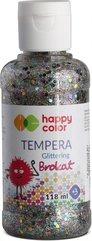Farba Tempera 118ml brokat srebrna HAPPY COLOR