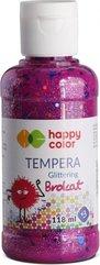 Farba Tempera 118ml brokat różowa HAPPY COLOR