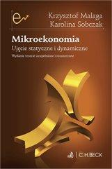 Mikroekonomia. Ujęcie statyczne i dynamiczne