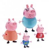 Świnka Peppa - Figurki Zestaw Rodzina Peppy Mama, Tata, Peppa i George