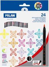 Flamastry z pędzelkiem 24 kolory MILAN