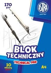 Blok techniczny A4/10K 170g 1szt ASTRA