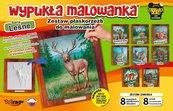 Wypukła malowanka - Zwierzęta lasu Zestaw 8 wzorów