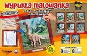 Wypukła malowanka - Dinozaury Zestaw 8 wzorów