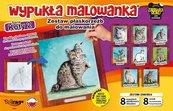 Wypukła malowanka - Koty Seria 2 Zestaw 8 wzorów