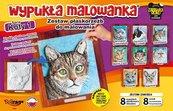 Wypukła malowanka - Koty Seria 1 Zestaw 8 wzorów