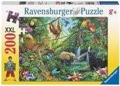 Puzzle 200 Zwierzęta w dżungli XXL