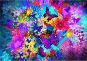 Puzzle 1000 Kwiaty i motyle