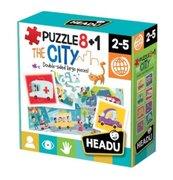 Puzzle 8+1 Miasto HEADU
