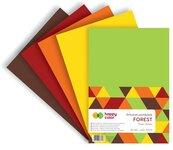 Arkusze piankowe A4 5 kolorów Forest mix