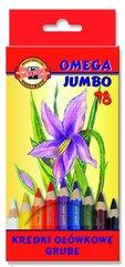 Kredki Omega 3383 Jumbo 18 kolorów