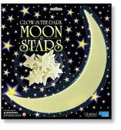 Gwiazdy i duży Księżyc - świecące naklejki