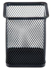 Pojemnik na długopisy metalowy kwadratowy czarny