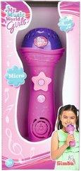 Różowy mikrofon