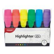 Zakreślacz 604 komplet 6 kolorów MONAMI