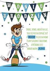 Karnet Comic B6 + koperta wzór nr 28 Urodziny