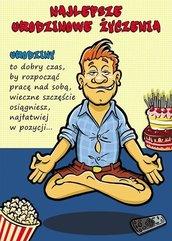 Karnet Comic B6 + koperta wzór nr 03 Urodziny