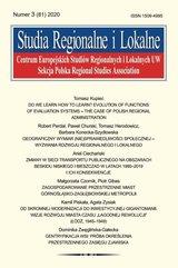 Studia Regionalne i Lokalne 2020/3 (81)