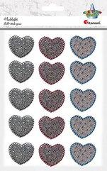 Naklejki foliowe serca 15szt