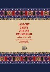Jasachy gminy Ormian lwowskich za lata 1598-1638 w języku ormiańsko-kipczackim w opracowaniu Krzyszt