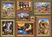Puzzle 1000 Galeria ośmiu obrazów