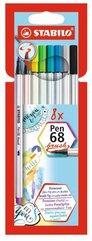 Flamastry Pen 68 brush 8 kolorów STABILO
