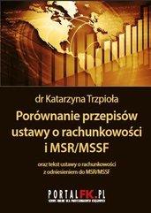 Porównanie przepisów ustawy o rachunkowości i MSR/MSSF 2019/2020
