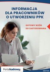 Informacja dla pracowników o utworzeniu PPK – gotowy wzór do zastosowania