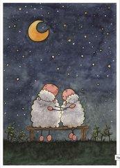 Pocztówka z kolorowanką - Miłujmy się wzajemnie