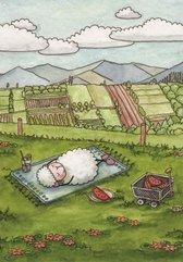 Pocztówka z kolorowanką - Pan jest pasterzem