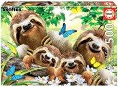 Puzzle 500 Rodzina leniwców G3