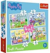 Puzzle 4w1 Wspomnienia z wakacji TREFL