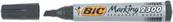 Marker BiC czarny ścięty p12, cena za 1szt.