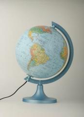 Globus 250 polityczno-fizyczny podświetlany w pudełku ZACHEM 0713