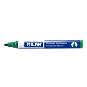 Marker permanentny zielony okrągła końcówka p12 MILAN, cena za 1szt.